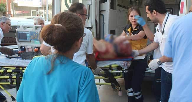 Konya'da otomobile çarpan motosiklet sürücüsü öldü