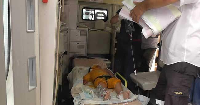 Konya'da üzerine kaynar su dökülen çocuk haşlandı