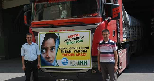 Konya'dan Suriye'ye insani yardım tırı