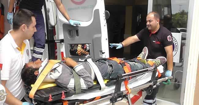 Pikapın çarptığı genç yaralandı