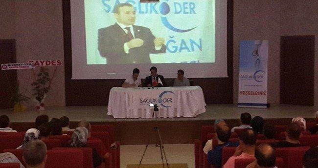 Sağlık-Der Konya Şubesi Kongresine Yaptı