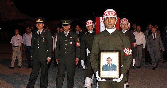 Şehit Astsubay Ceylan'ın cenazesi Tokat'a getirildi