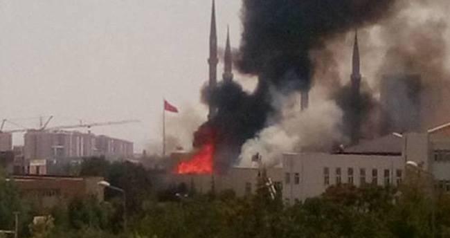 Selçuk Üniversitesi'nde korkutan yangın