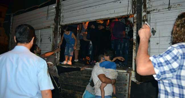 Kamyon kasasında tam 115 kaçak göçmen!