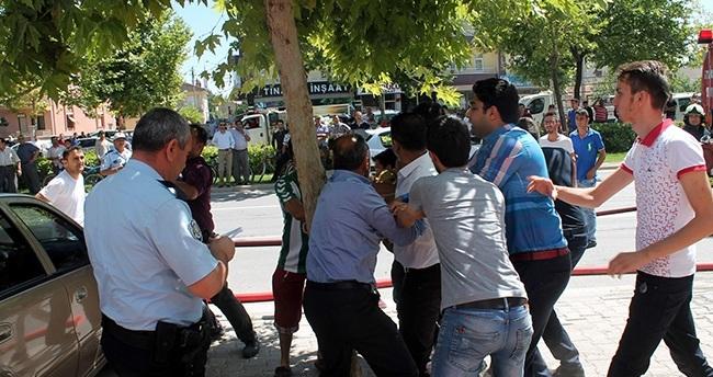 Konya'da polise saldırı