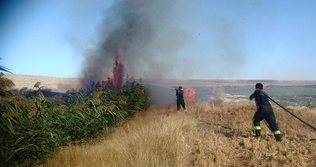 Konya'da Anız ve Sazlık Alan Yangını