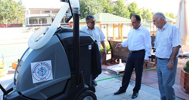 Beyşehir'de Vakumlu Süpürge Aracı Hizmette