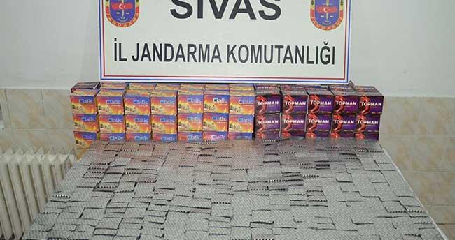 Sivas'ta uyuşturucu hap operasyonu: 1 gözaltı