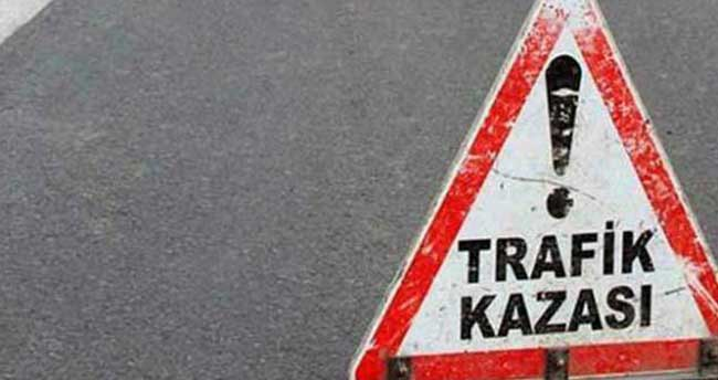 Karaman'da otomobil devrildi