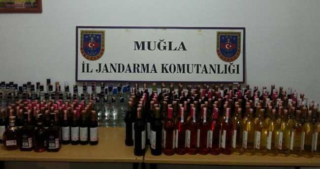 Marmaris'te kaçak içki operasyonu
