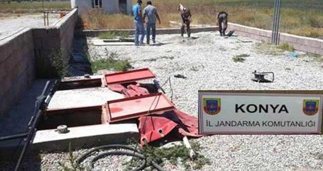 Konya'da Jandarmadan Kaçak Akaryakıt Operasyonu