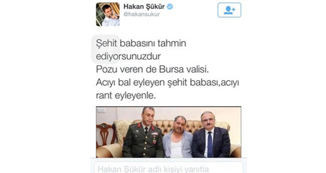 Hakan Şükür'ün tweeti Bursa Valisi'ni çileden çıkardı!