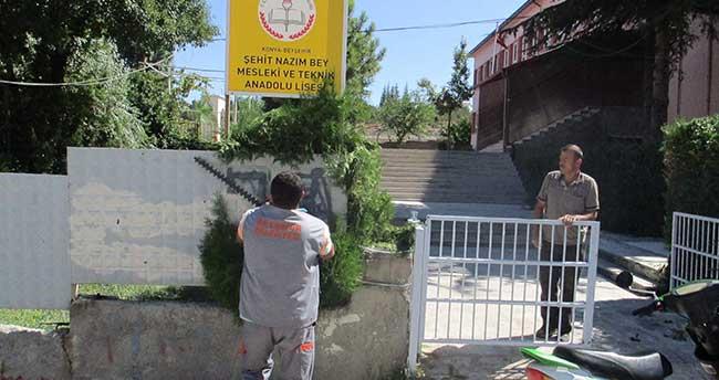 Beyşehir Belediyesi Okul Bahçeleri İçin Seferber Oldu