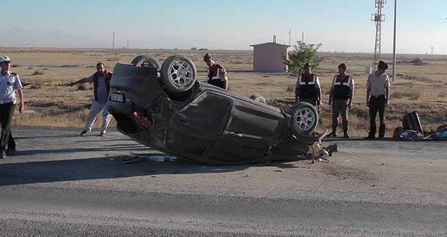 Ereğli'de otomobil takla attı: 5 yaralı