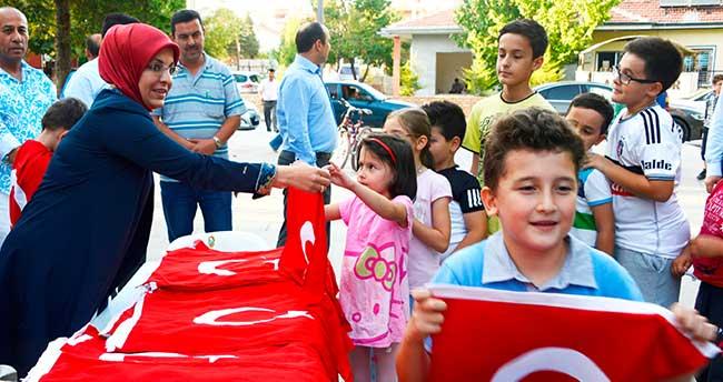 """Meram'da """"Bayrak As"""" kampanyası"""