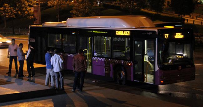 Beyoğlu'nda otobüse molotoflu saldırı