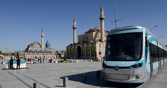 Konya Adliye ve Selçuk Üniversitesi Hatlarında Tramvay Seferleri Başladı