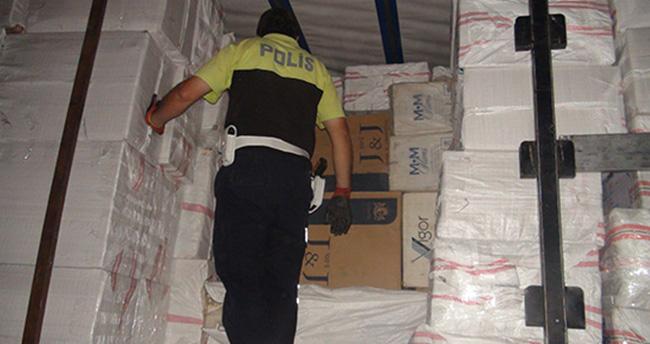Aksaray'da 150 bin paket kaçak sigara ele geçirildi