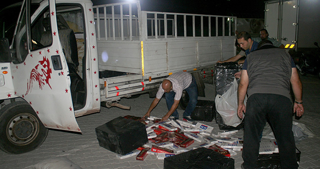 Konya'da 600 bin paket kaçak sigara ele geçirildi