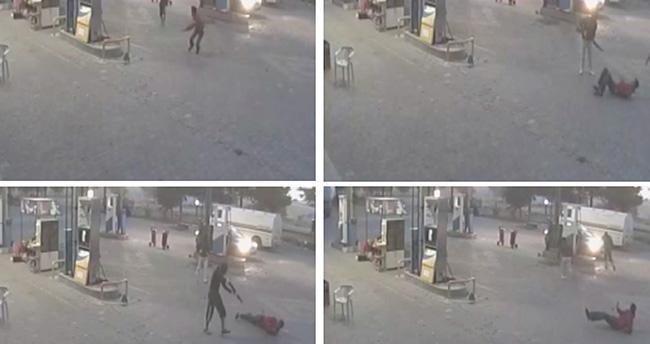 Konya'da Silahlı Gasp Güvenlik Kamerasında