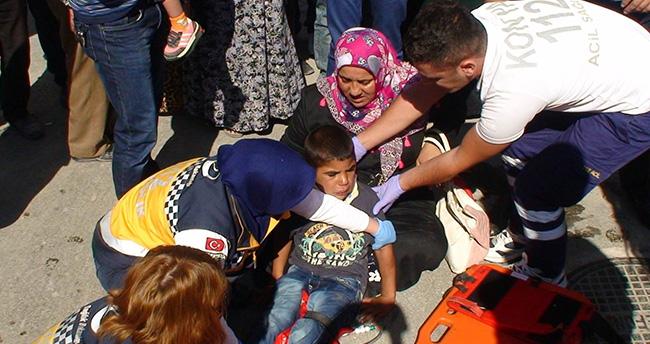 Konya'da Kamyonetin Çarptığı Çocuk Yaralandı
