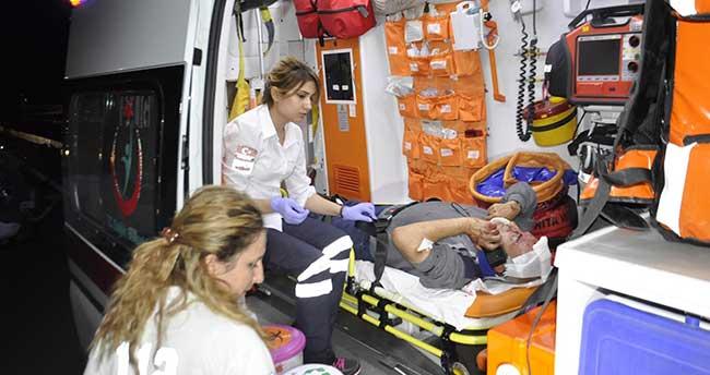 Seydişehir'de otomobil takla attı: 2 yaralı