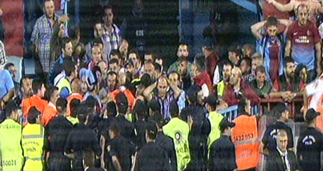Trabzon'da maç bitti, ortalık karıştı