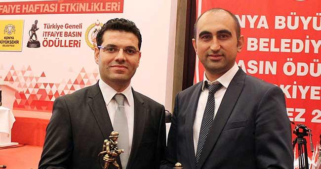 Konya İtfaiyesi Basın Ödüllerinde İHA'ya İki Ödül