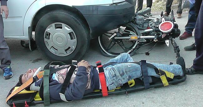Kulu'da Minibüsle Motosiklet Çarpıştı : 1 Yaralı