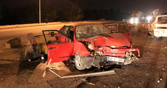 Kontrolden çıkan araç beton bariyerleri parçaladı: 1 yaralı