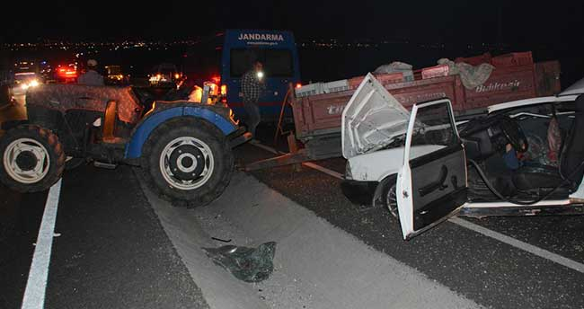 Manisa'da trafik kazası: 1 ölü, 8 yaralı