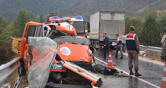 Ankara'da trafik kazası: 2 ölü, 2 yaralı
