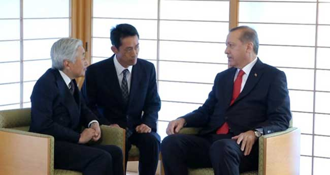 Erdoğan, Japon İmparatoru Akihito'yu ziyaret etti