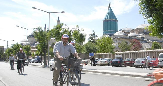 Konya'da 2023 hedefi; bin kilometre bisiklet yolu