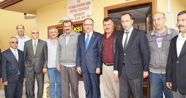 Mustafa Kalaycı'dan Taksi Durağına Ziyaret