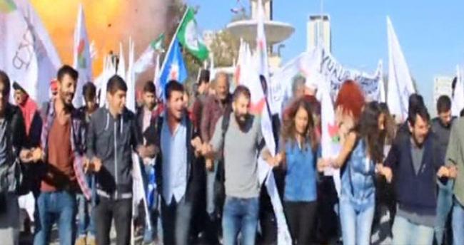 Ankara'daki patlama anı kamerada