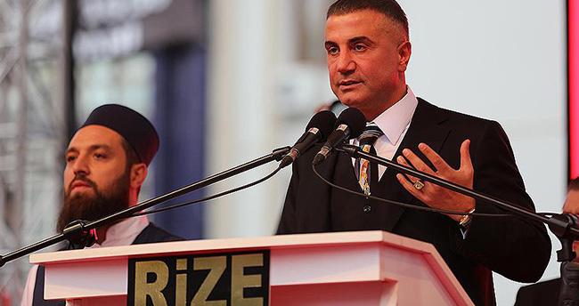 Rize'deki Sedat Peker'in yaptığı mitinge savcılık soruşturması