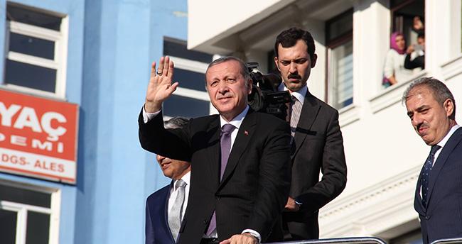 Cumhurbaşkanı Recep Tayyip Erdoğan Çankırı'da