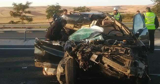 Kulu'da trafik kazası: 1 ölü, 1 yaralı