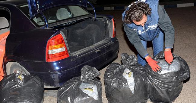 Aksaray'da Avukatın kullandığı araçta 150 kilogram esrar ele geçirildi
