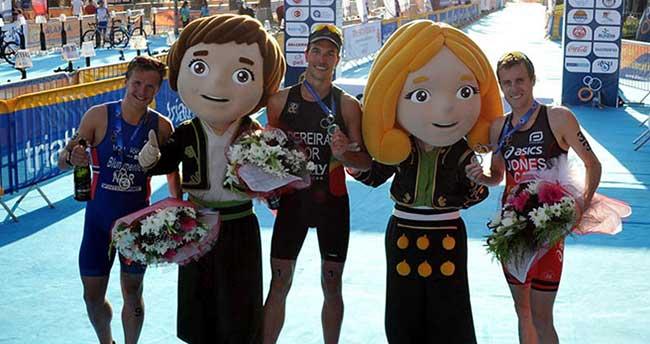Triatlonun şampiyonu Portekizli Joao Pereira oldu