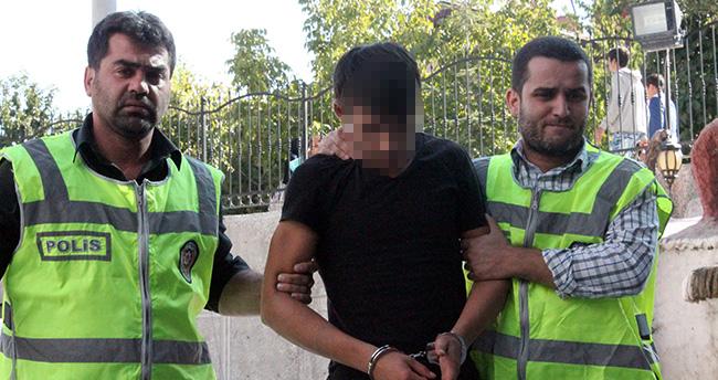 Konya'da güvenlik kamerasının kaydettiği gaspçılar yakalandı