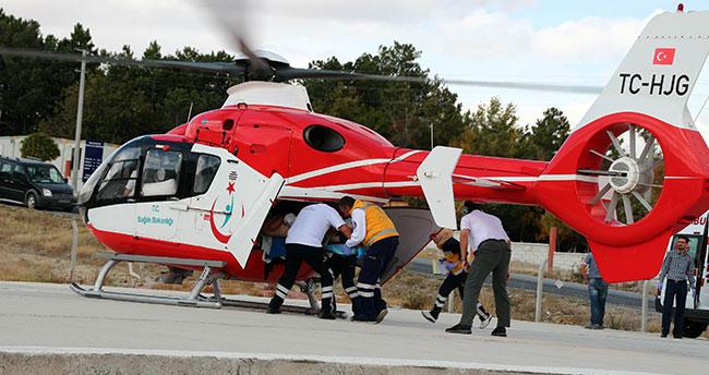 Ambulans helikopter onun için havalandı!
