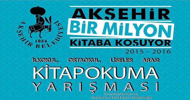 """Akşehir """"Bir Milyon Kitaba"""" koşmaya devam ediyor"""