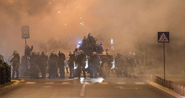 Karadağ'da olaylı muhalefet protestosu