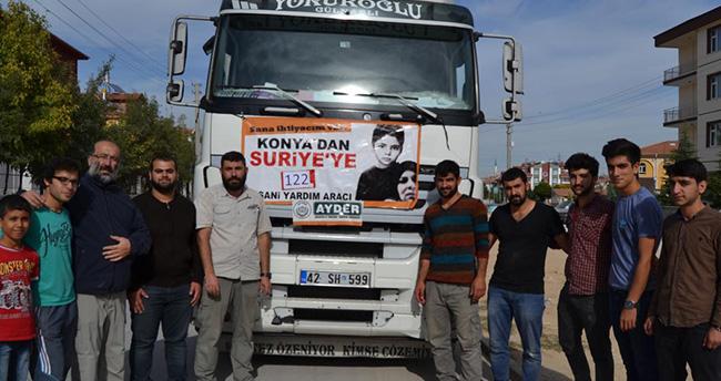 Konya'dan Suriye'ye okul malzemesi yardımı