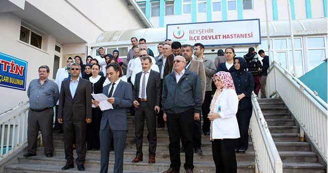 Beyşehir'de Sağlık Çalışanlarından Terör Saldırılarına Tepki