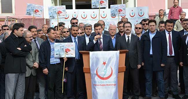 Konya'da Sağlık Çalışanlarından Terör Saldırılarına Tepki