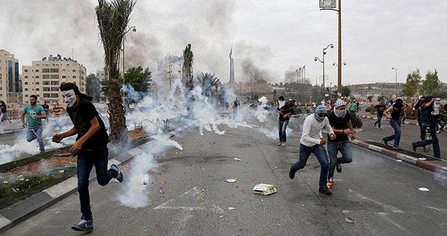 İsrail askerlerinin müdahalesinde çok sayıda Filistinli yaralandı
