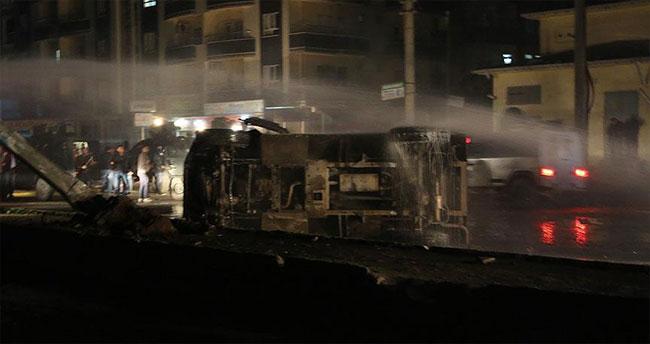 Silopi'de zırhlı araç devrildi: 8 polis yaralı